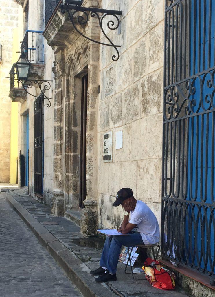 キューバの絵描き