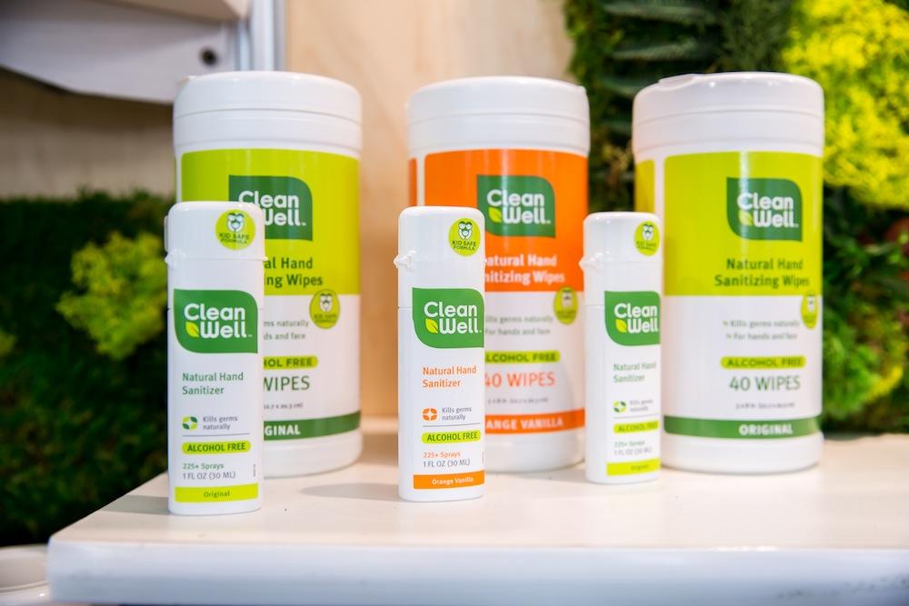 化学物質なしに植物由来の成分だけで消毒できるスプレーやウェットティッシュなどを販売する「CleanWell」