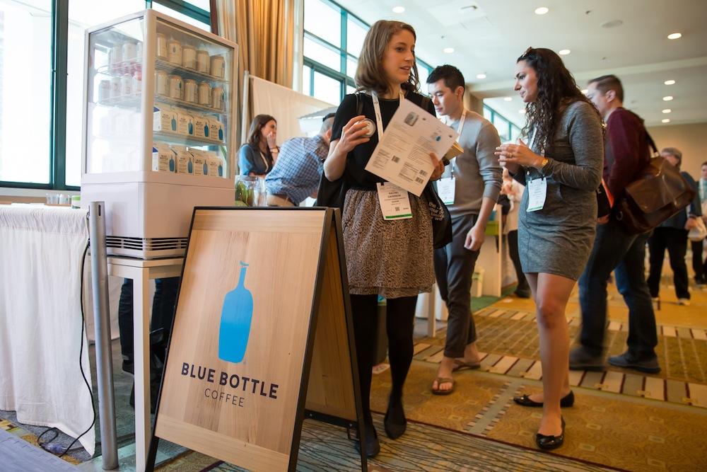 サードウェーブコーヒーの雄、「Blue Bottle Coffee」も来ていました。同社のコーヒー豆は85%以上がオーガニックなほか、フェアトレードにも気を遣っています
