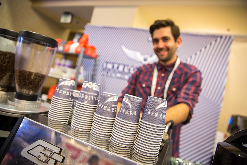同じくサードウェーブコーヒーの主役、「Intelligentsia Coffee」も出展。同社の紅茶はほとんどがオーガニックで、コーヒー豆も積極的にオーガニックのものを使っているそう