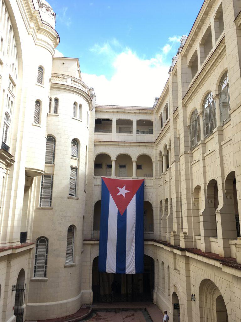 革命博物館のキューバ国旗